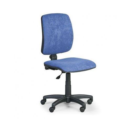 Krzesło biurowe TORINO II bez podłokietników - niebieska
