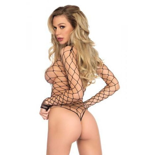 Legavenue Turtleneck fishnet teddy