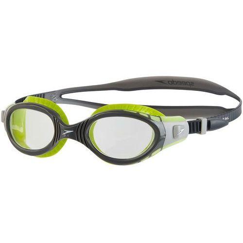 Speedo futura biofuse flexiseal okulary pływackie szary/zielony 2018 okulary do pływania