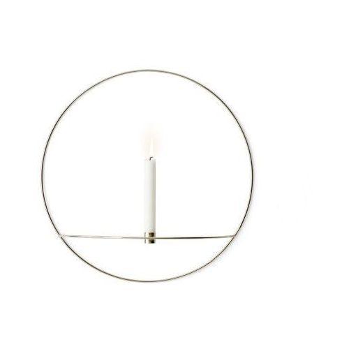 Menu Świecznik pov circle ścienny na świeczkę, l, srebrny -