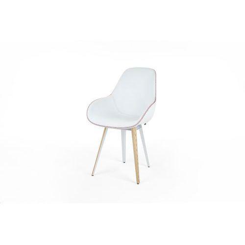 Kubikoff Krzesło SLICE DIMPLE TAILORED skóra slicedimpletailored-leather, kolor różowy