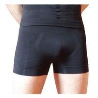 Wyszczuplające, korygujące brzuch i pośladki szorty męskie z nanoSREBREM - białe, czarne - prod. BeautySAN