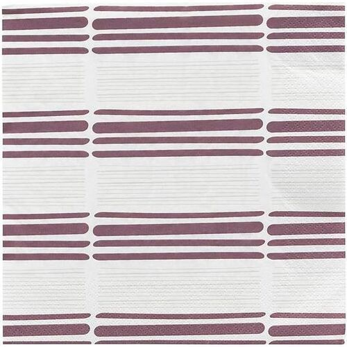 Serwetki papierowe stroke czerwone 40 szt. (5707644698888)