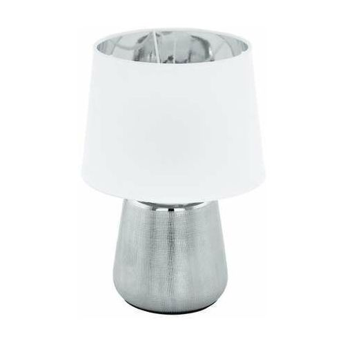 Eglo Manalba 1 99329 lampa stołowa lampka 1x40W E14 srebrna/biała (9002759993290)