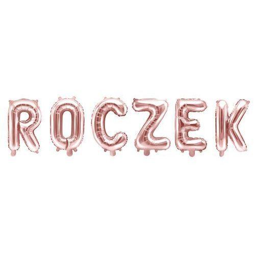 """Zestaw balonów foliowych """"roczek"""" różowe złoto - 35 cm marki Party deco"""