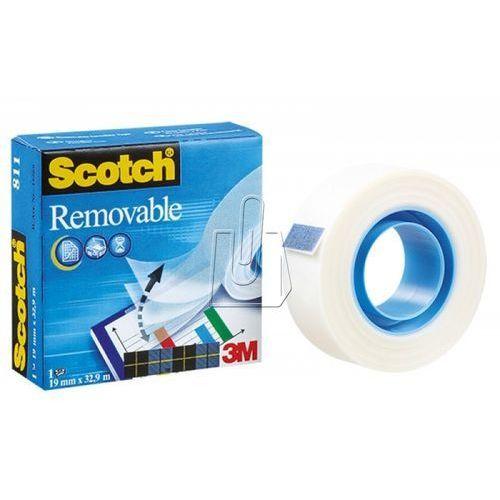 Taśma samoprzylepna 3M Scotch Removable 19mm x 32,9m mleczna usuwalna, BP789512
