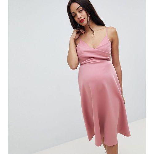 Asos maternity Asos design maternity scuba cami prom midi dress - pink
