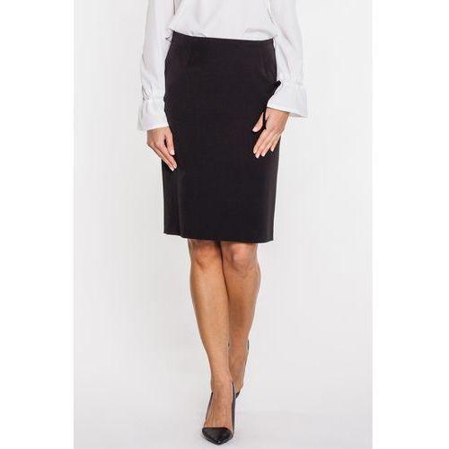 Metafora Czarna spódnica o klasycznym, ołówkowym kroju -
