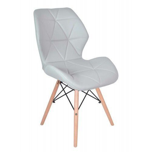 Gockowiak Krzesło tapicerowane rennes - szare