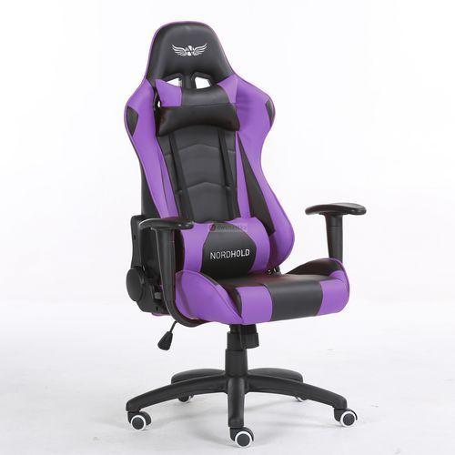 Obrotowy fotel gamingowy - ymir - fioletowy marki Nordhold