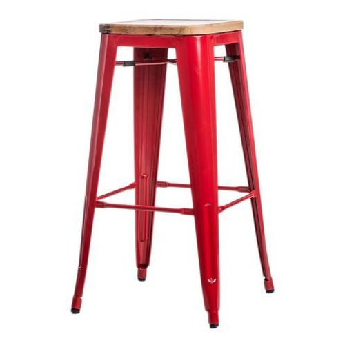 D2.design Hoker paris wood 75cm jesion - czerwone