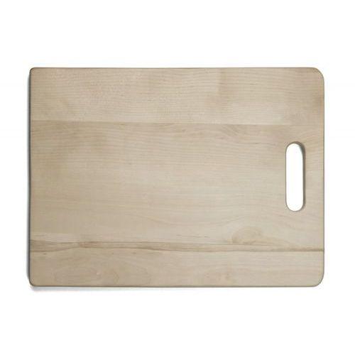 Deska drewniana do krojenia z uchwytem, wymiary 40x30x2,1 cm, EXXENT 78523