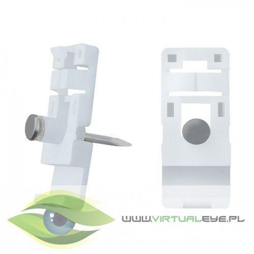 Qoltec Uchwyt/ klip do kabli | 15x13mm | naścienny | biały (5901878542270)
