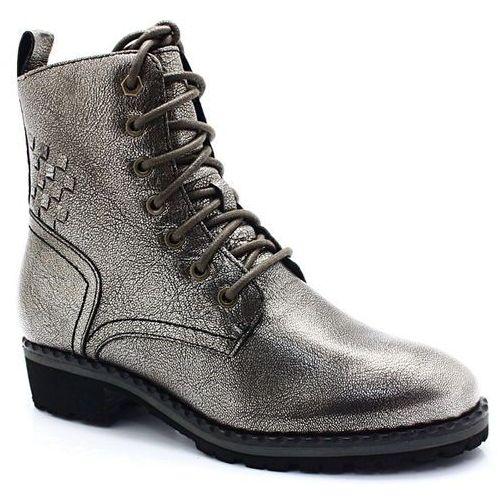9-26210-21 metaliczny - rasowe workery - srebrny, Caprice