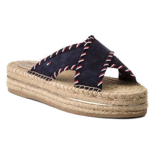 fc40a283af33e Tommy hilfiger Espadryle - interlace suede flatform sandal fw0fw03399 rwb  020