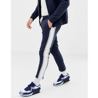 Jack & Jones Core Cropped Side Taping Joggers - Navy