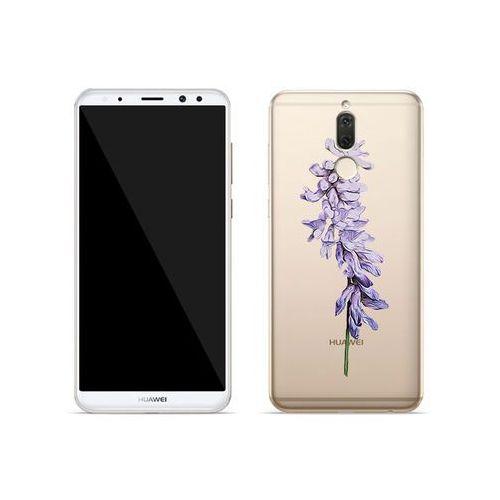 Etuo crystal design Huawei mate 10 lite - etui na telefon crystal design - fioletowy kwiat