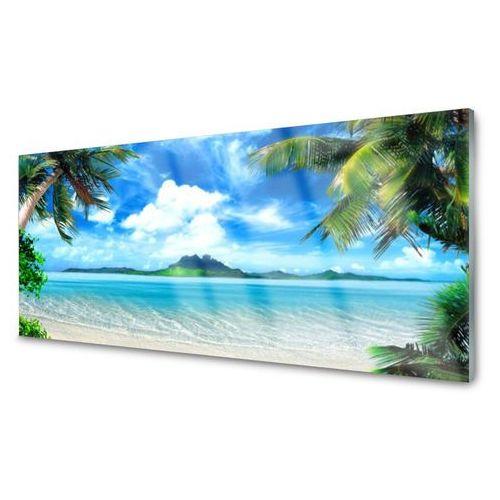 Obraz Akrylowy Palmy Morze Tropikalna Wyspa