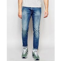 Lee jeans luke skinny fit stretch authentic blue mid wash - blue
