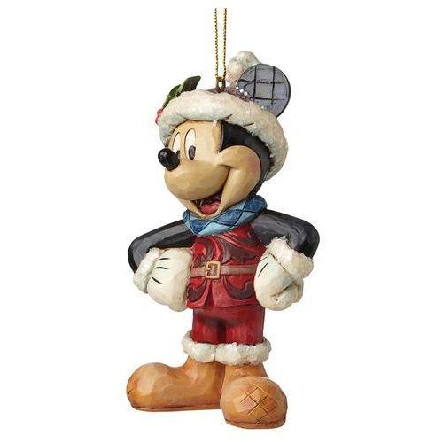 Jim shore Zawieszka myszka miki mikołaj sugar coated mickey mouse hanging ornament a28239 figurka ozdoba świąteczna (0720322282396)