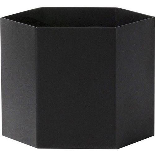 Doniczka hexagon xl czarna marki Ferm living