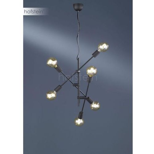 cross lampa wisząca czarny, 6-punktowe - nowoczesny - obszar wewnętrzny - cross - czas dostawy: od 3-6 dni roboczych marki Trio