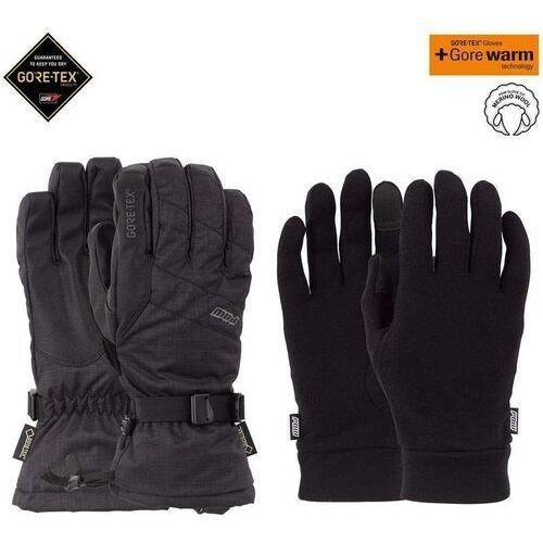 - warner gtx long glove + warm black (bk) rozmiar: s, Pow