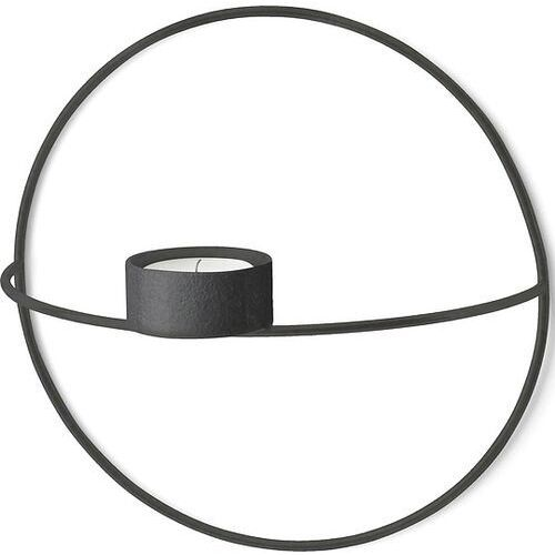 Świecznik POV Circle ścienny na tealight, S, czarny - Menu
