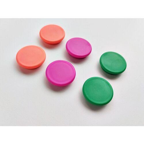 Magnesy neonowe mix kolorów 24mm