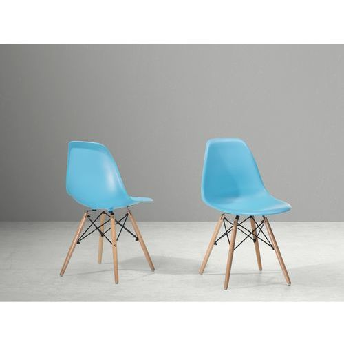 Beliani Krzesło do jadalni niebieskie - krzesło z tworzywa sztucznego - ellis, kategoria: krzesła