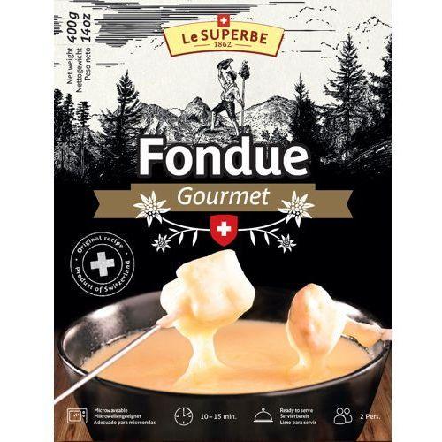 Ser szwajcarski do fondue le superbe 2 x 400g wyprodukowany przez Emmi (szwajcaria)