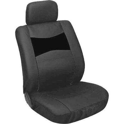CarPoint pokrowce na siedzenia - imitacja skóry, czarny