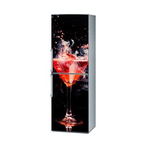 Mata magnetyczna na lodówkę - czerwony drink 4297 wyprodukowany przez Stikero