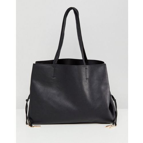 lace up detail tote bag - black marki New look