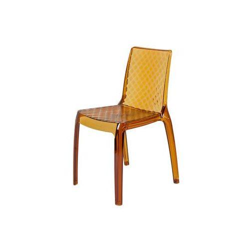 Artdeco Krzesło plastikowe carmen - brązowe - brązowy