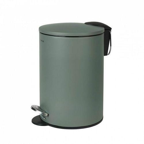 Kosz na śmieci 3 litry Blomus TUBO - agave green stal lakierowana, kolor zielony