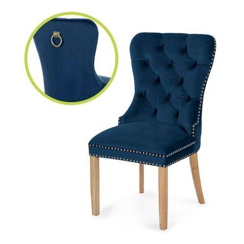 Krzesło madame ii gold niebieski/dąb so263 marki Atreve