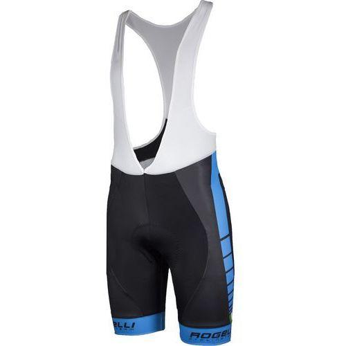 Rogelli Umbria - męskie spodenki rowerowe z wkładką żelową (czarno-niebieski)