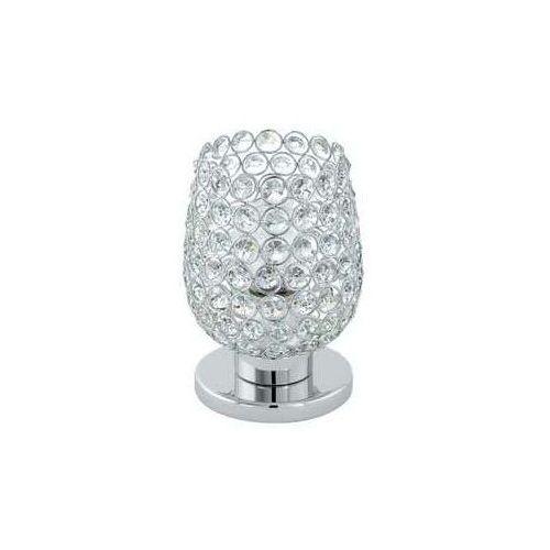 Lampa Eglo Bonares 1 94899 lampka oprawa stołowa z kryształkami 1x60W E27 chrom, przeźroczysty (9002759948993)