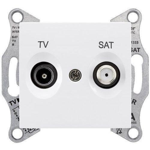 SEDNA Gniazdo antenowe TV/SAT (1dB) końcowe białe SDN3401621 SCHNEIDER