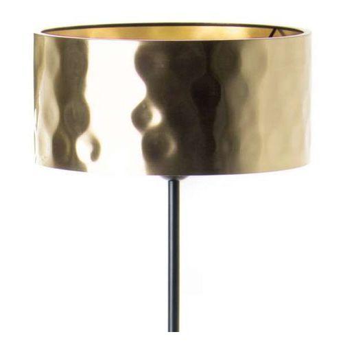 Zumaline Stojąca lampa podłogowa forge fl-16019-gd+bk okrągła oprawa salonowa złota