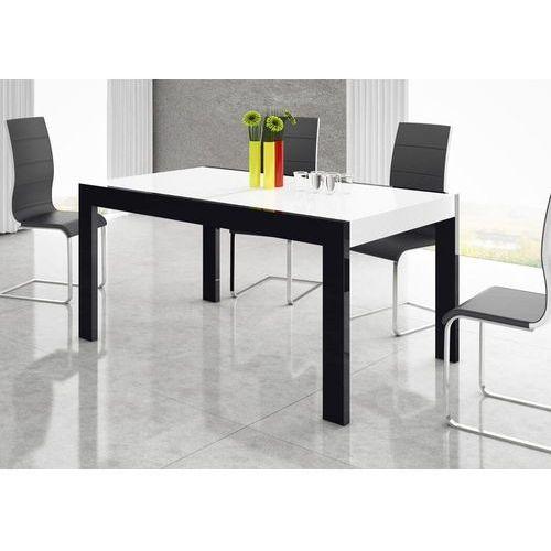 Stół rozkładany IMPERIA 160-260 Czarno-biały połysk, HS-0026
