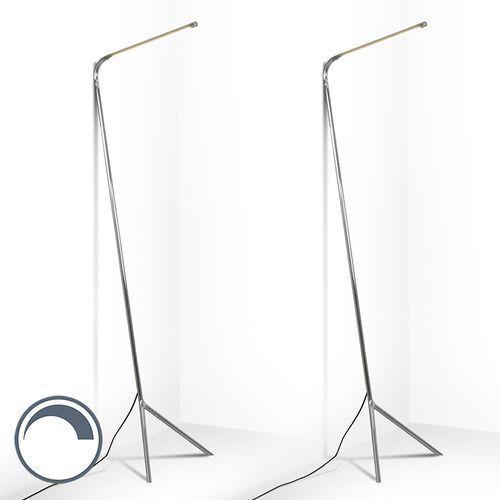 Zestaw 2 lamp stojących lazy lamp chrom marki Qazqa