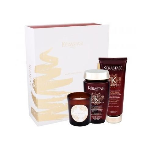 Kérastase aura botanica bain micellaire zestaw szampon bain micellaire 250 ml + odżywka soin fondamental 200 ml + świeczka 100 g dla kobiet