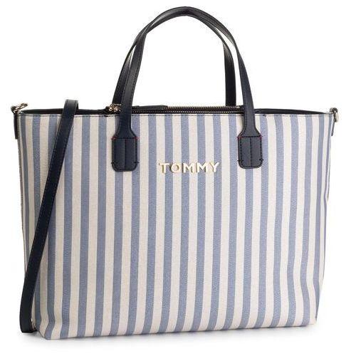 Tommy hilfiger Torebka - iconic tommy satchel glitter aw0aw07042 901