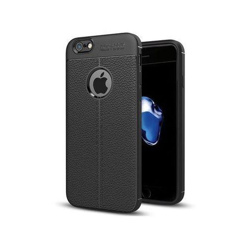 Etui pancerne leather case tpu apple iphone 7 / 8 czarne marki Alogy