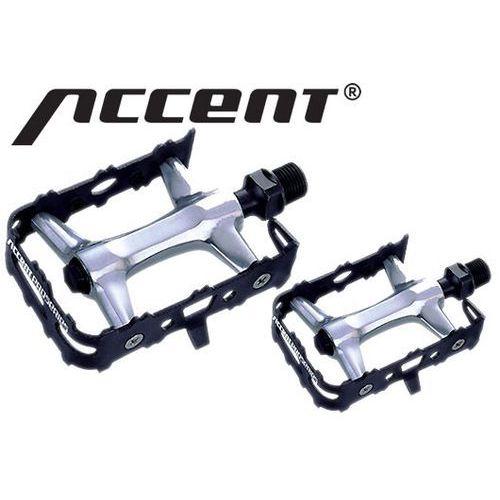 600-10-40_ACC Pedały AXIUM czarno-srebrne, aluminiowe, łożyska maszynowe