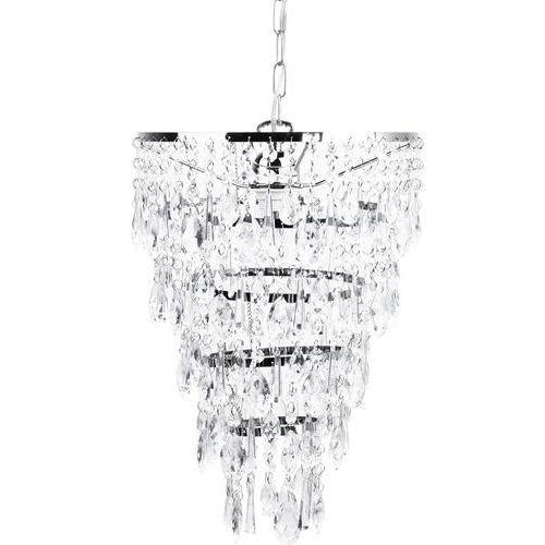 Beliani Żyrandol srebrny entwash