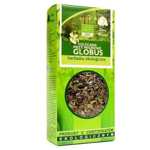 """POLECANA PRZY MIGRENIE """"GLOBUS"""" EKO 50g - Dary Natury herbata, 81B9-383"""