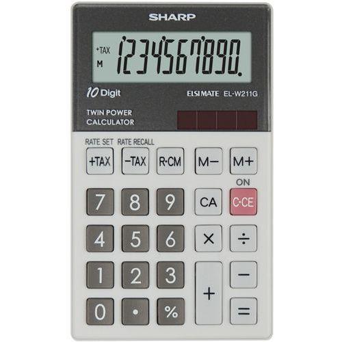 Sharp Kalkulator hadheld box elw211ggy szary (4974019026039)